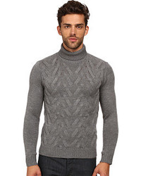 The Kooples Sport Cable Wool Turtleneck Sweater