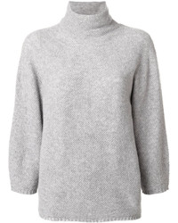 Max Mara Turtleneck Loose Fit Knitted Blouse