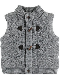 Mayoral Knit Quilted Toggle Vest Gray Size 3 24 Months