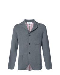 Grey Knit Wool Blazer