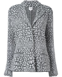 Armani Collezioni Patterned Knit Blazer