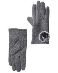 14th Union Faux Fur Pompom Knit Gloves
