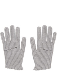 MM6 MAISON MARGIELA Grey Wool Rib Knit Gloves