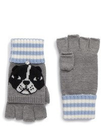 Kate Spade New York French Bulldog Merino Wool Pop Top Mittens