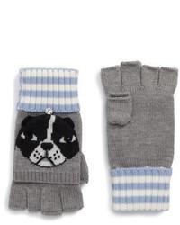 New york french bulldog merino wool pop top mittens medium 6870212