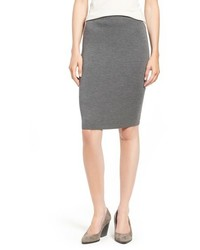 Petite knee length wool crepe knit skirt medium 757329
