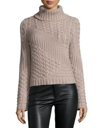 Grey Knit Wool Turtleneck