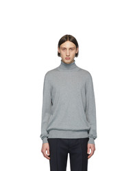 Maison Margiela Grey Elbow Patch Turtleneck