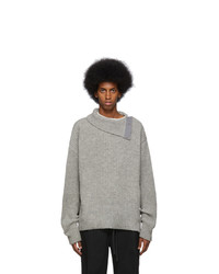 Jil Sanderand Grey Wool Turtleneck