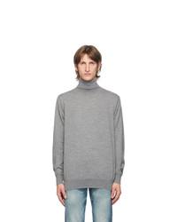 Junya Watanabe Grey Wool Turtleneck