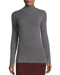 Eileen Fisher Merino Wool Rib Knit Turtleneck Sweater