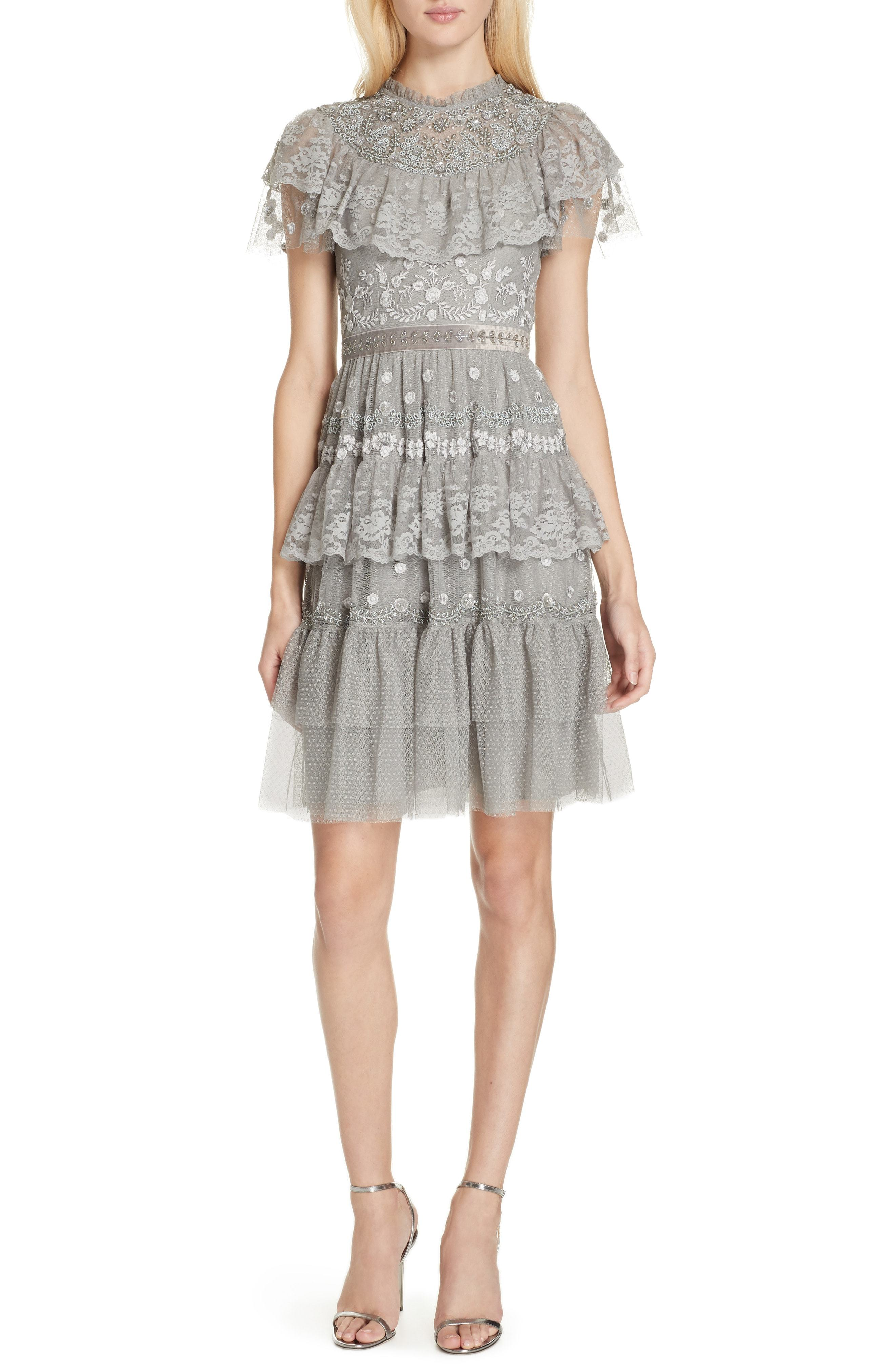 Needle & Thread Cinderella Tiered Lace Dress