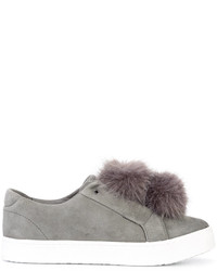 Sam Edelman Fur Detail Slip On Sneakers
