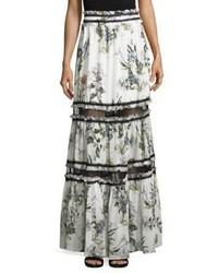 Nicholas Iris Silk Lace Maxi Skirt