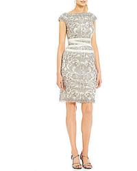 Tadashi Shoji Off The Shoulder Lace Sheath Dress