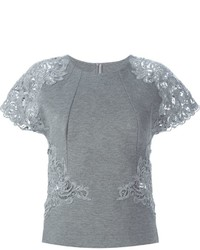 Ermanno scervino lace sleeve blouse medium 362608