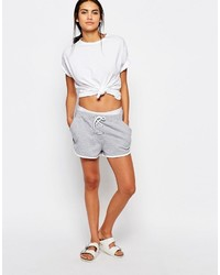 Missguided Lace Up Jersey Shorts