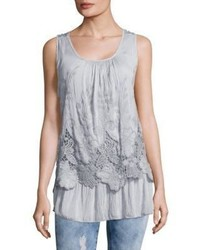 Le Marais Lace Embroidered Overlay Top