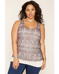 Forever 21 Plus Size Eyelash Lace Top