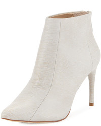 BCBGMAXAZRIA Cara Embossed Pointed Toe Bootie Blush