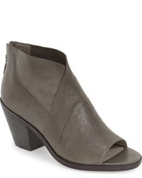 Eileen Fisher Ink Open Toe Block Heel Bootie
