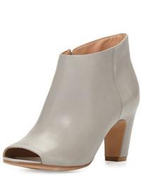 Open toe leather bootie ash medium 648118