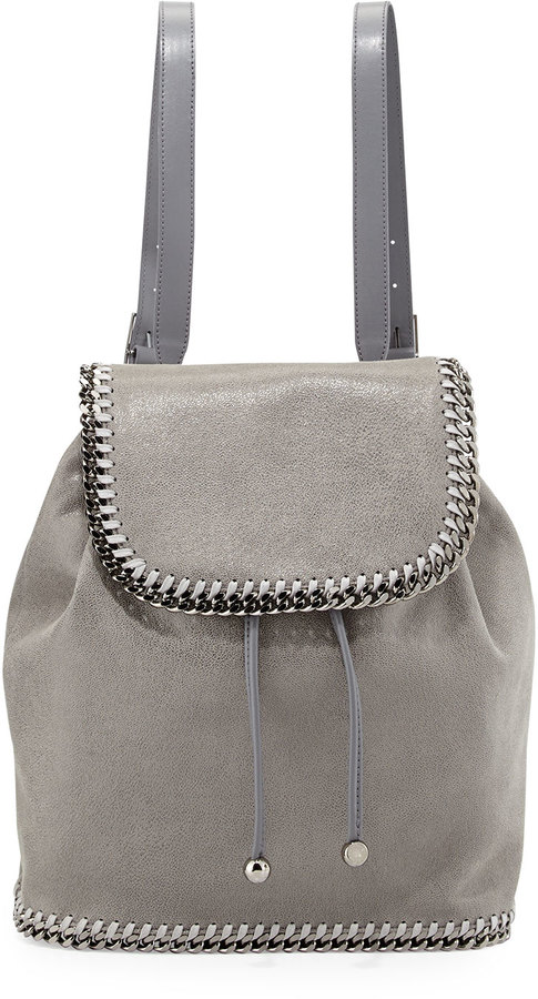 fd2c5b666b ... Stella McCartney Falabella Shaggy Deer Backpack Light Gray ...