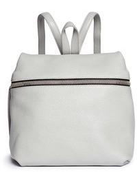 Women's Grey Leather Backpacks by Kara | Women's Fashion