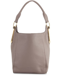 See by Chloe Paige Leather Hobo Bag Mineral Gray
