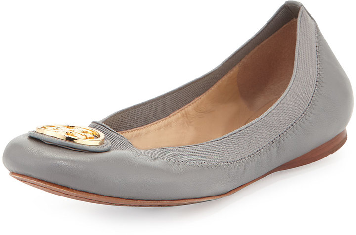 b9c45b6b7c37 ... Shoes Tory Burch Caroline Leather Ballerina Flat Quarry Rock ...