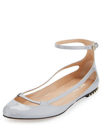 Valentino Garavani Stardust Babe Patent Ballerina Rockstud Flat