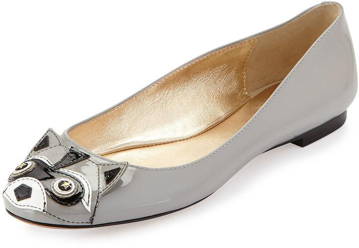 089426523 ... Shoes Kate Spade New York Jiro Raccoon Patent Ballerina Flat Pale Gray  ...