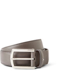 Montblanc 35cm Dark Grey Textured Leather Belt