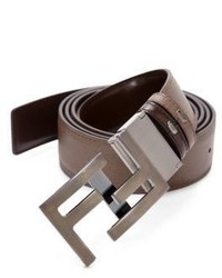 Fendi America Elite Reversible Leather Belt