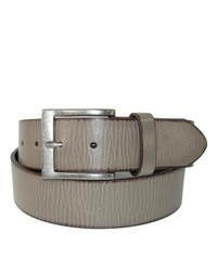 CTM Wrinkled Leather Belt For By Grey 38