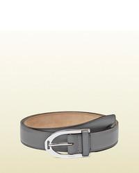 Gucci Grey Leather Belt