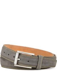 Robert Graham Laurel Leather Belt Grey