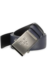 Prada Logo Buckle Leather Belt