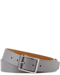 Cole Haan Pebbled Leather Belt Graywhite