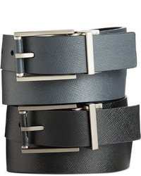 Calvin Klein Saffiano Leather Roll Buckle Reversible Belt