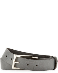 Prada Saffiano Reversible Slim Belt