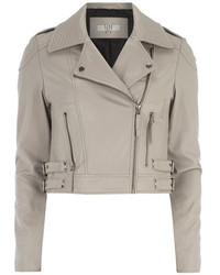 Dorothy Perkins Lola Skye Grey Leather Jacket