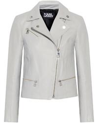 Karl Lagerfeld Ikonik Odina Leather Biker Jacket