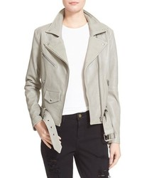 Veda Jayne Lambskin Leather Moto Jacket