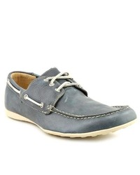 Born Crown Haven Blue Moc Leather Boat Shoes Eu 475