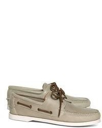 Brooks Brothers Grey Boat Shoes