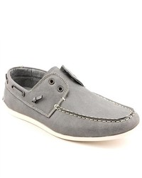 MADDEN MEN Gamer Gray Boat Moc Faux Leather Boat Shoes