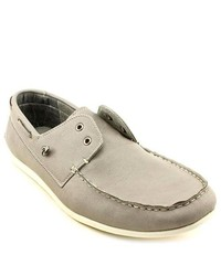 MADDEN MEN M Gamer 1 Gray Leather Boat Shoes
