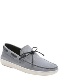 Tod's Night Suede Marlin Braided Tie Boat Shoes