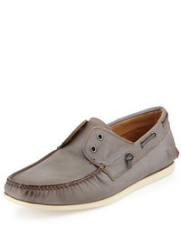 John Varvatos Star Usa Schooner Leather Boat Shoe Lead